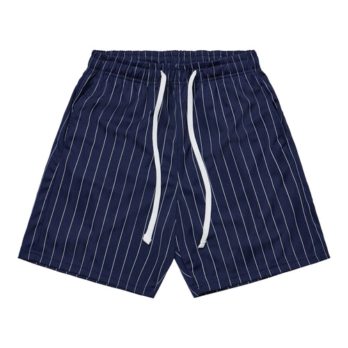 Athletic Shorts - Blue / White Stripes