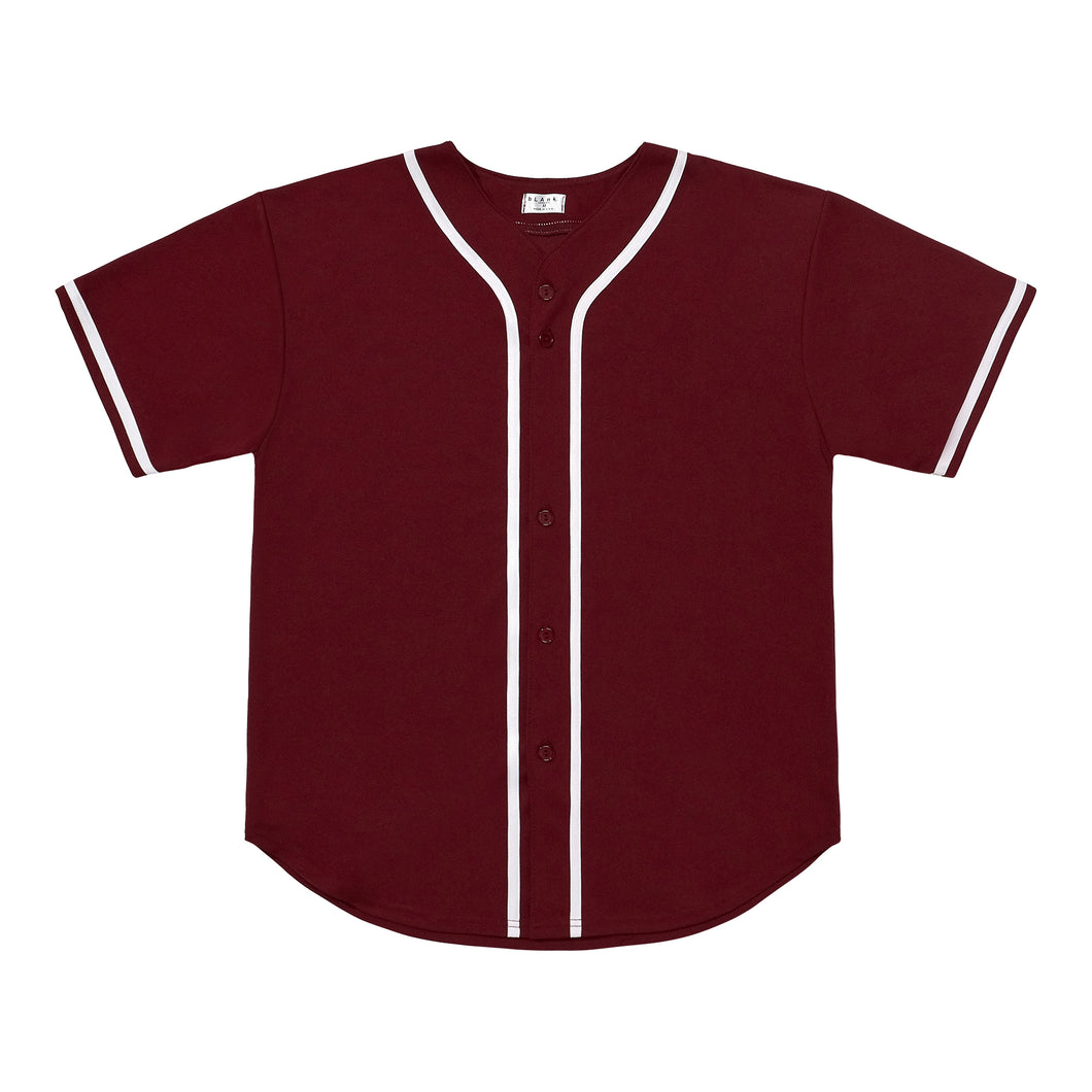 Baseball Jersey - Burgundy / White