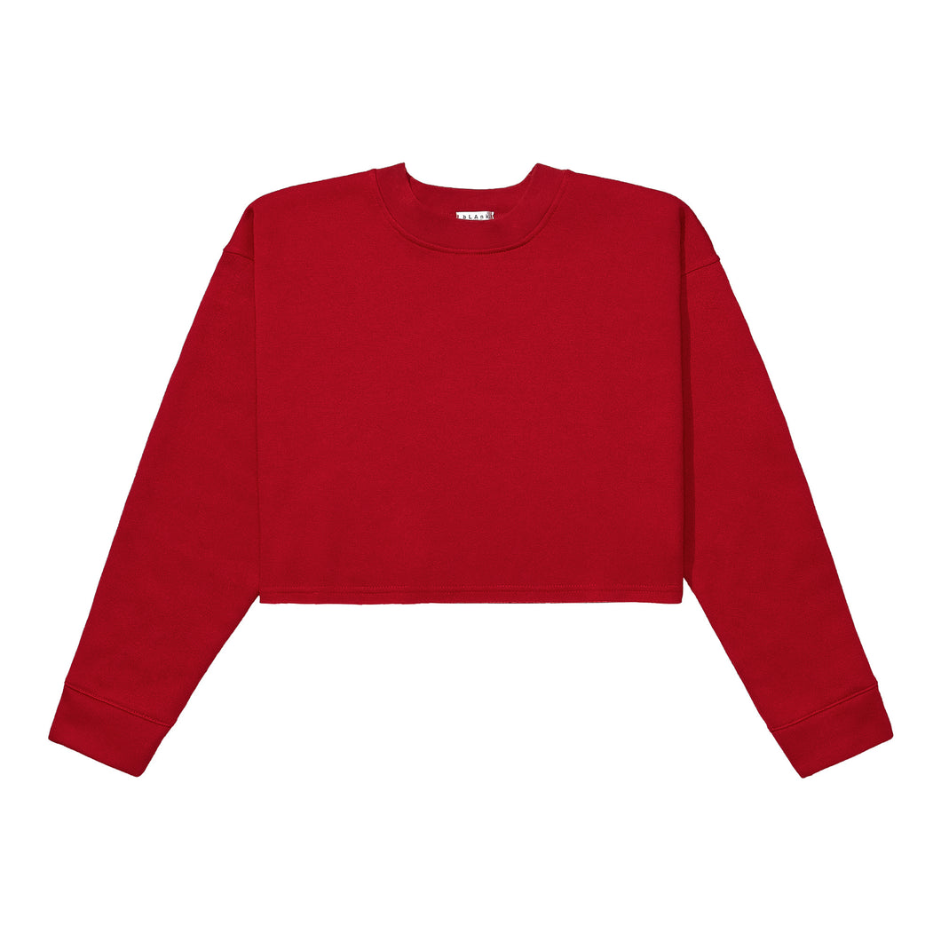Crewneck Crop Top - Red