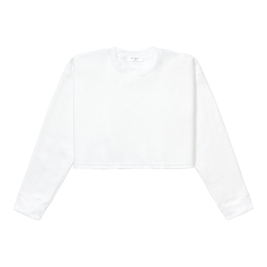 Crewneck Crop Top - White