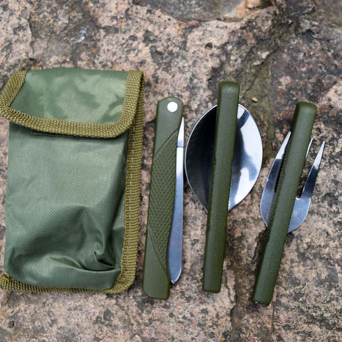 Tableware Folding Knife And Fork and Spoon