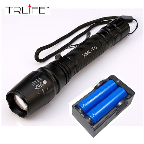 6000LM Flashlight Battery+US/EU Charger