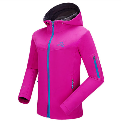 Pelliot  women's soft shell charge garment Wind warm jacket