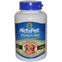 Actipet, Anxiety Free for Travel and Separation for Dogs, 90 Chewable Tablets