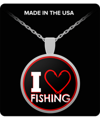 I Love Fishing - Pendant Necklace