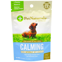 Pet Naturals of Vermont, Calming, For Dogs, 30 Chews, 1.59 oz (45 g)