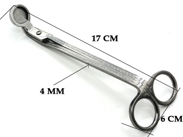 17CM Stainless Steel Candle Wick Trimmer Oil Lamp Trim scissor tijera tesoura Cutter Snuffer Tool Hook Clipper