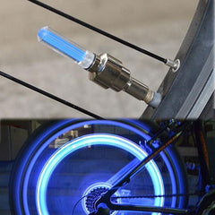 Bicycle Cycling Tyre Wheel Valve Neon Firefly Spoke LED Lamp Bikes Lights High Quality One Piece Included Battery