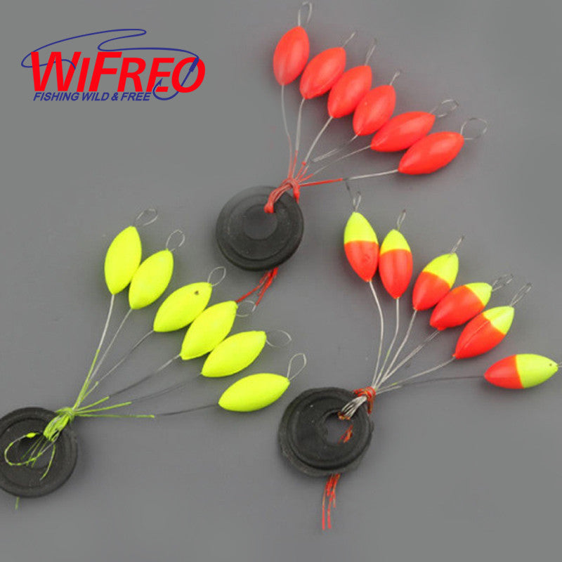 10set=60pcs  Oval mini fishing float Space beans