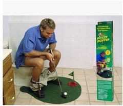 Potty Putter Toilet Golf Game Mini Golf Set Toilet Golf Putting Green Novelty Game For Men and Women Free shipping