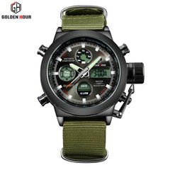 Fashion  Men Military Steel Case 30ATM Waterproof  Sport Watch