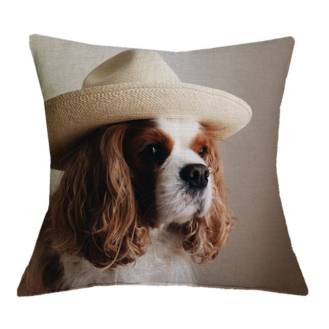 Cavalier King Charles Spaniel Cushion Cover 43X43cm Pillow Cases Pillowcase Bedroom Sofa Home Decoration