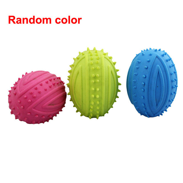 1PC Cute Rubber Resistant Bite Clean Teeth Chew Training Toy For Pet Dog Cat Puppy random color
