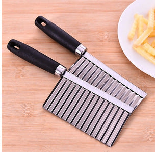 1pc Chip Dough Vegetable Carrot Blade Potato Crinkle Wavy Cutter Slicer Stainless kitchen accessories tools