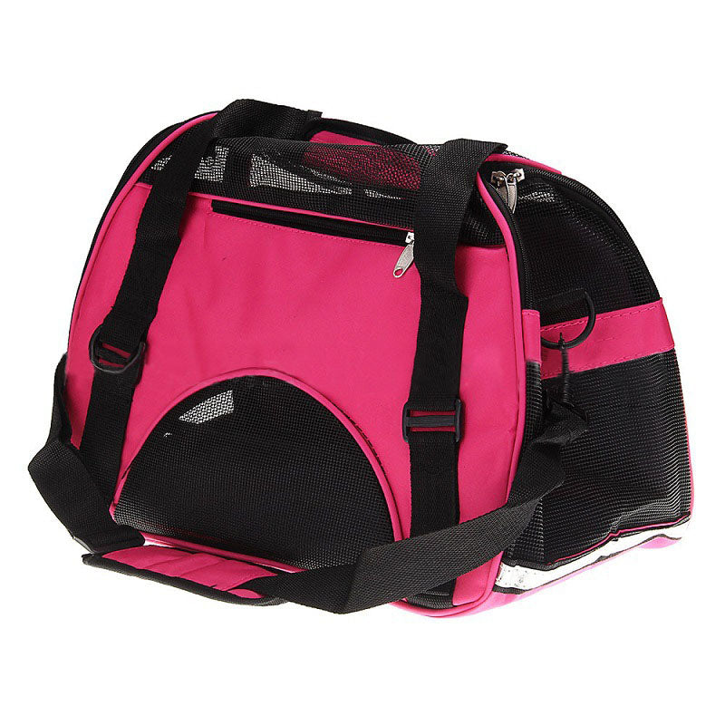Durable Pet Dog Cat Puppy Portable Travel Carrier Fabric Crate Tote Cage Bag Tote Kennel pink