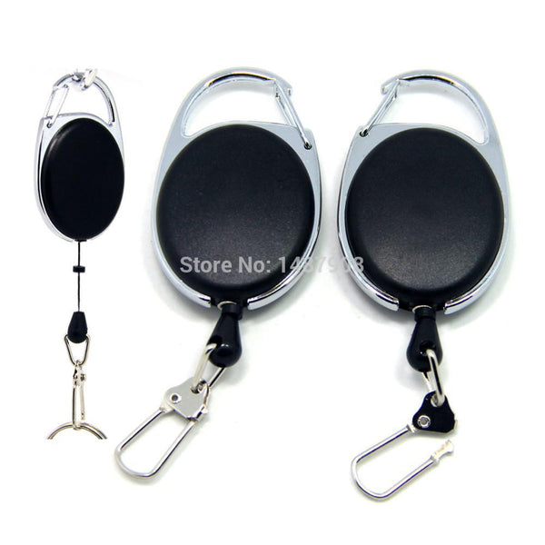 2 x Fly Fishing Tool Zinger Retractor Badge Holder Carabiners