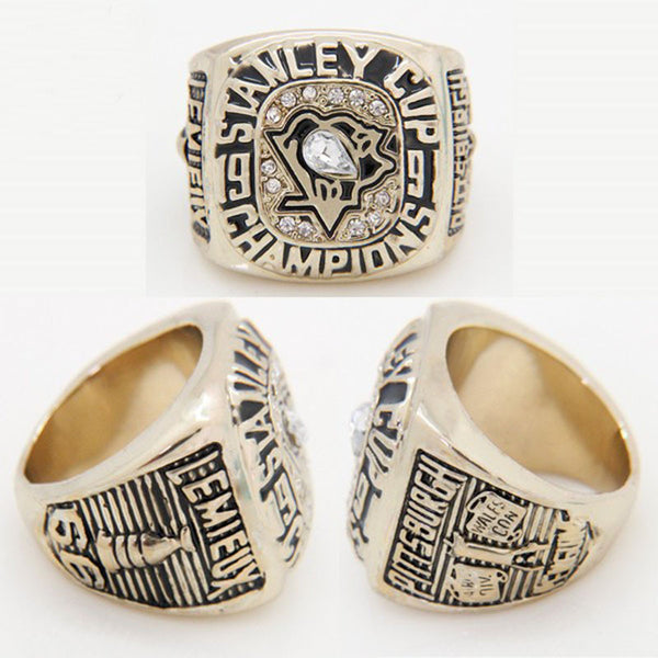 2015  NHL Stanley Cup Ring 1991 Pittsburgh Penguins
