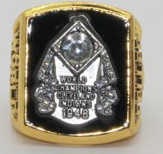 1948 cleveland indians feller  champ ring