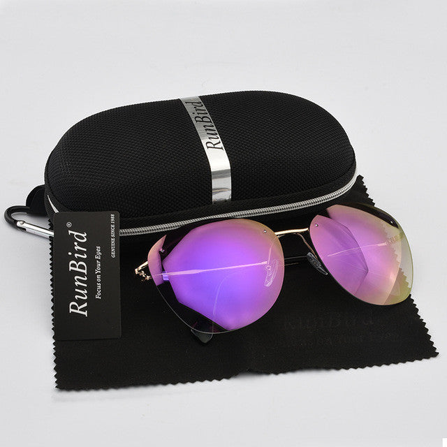 2017 Fashion Blue Coating Unisex  Sunglasses  with Box
