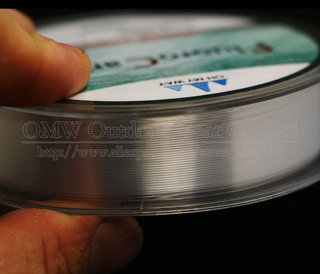 100M Fluorocarbon Fishing Line  red/clear colors 4-32LB