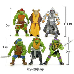6pcs/lot TMNT Turtle action Figure toys set 2017 New  turtle 1988 action figure  dolls