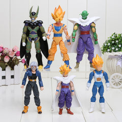 Dragon Ball Z Joint Movable Vegeta Piccolo Son Gohan Son Goku Trunks Action Figure Toys 6pcs/set 13-15cm