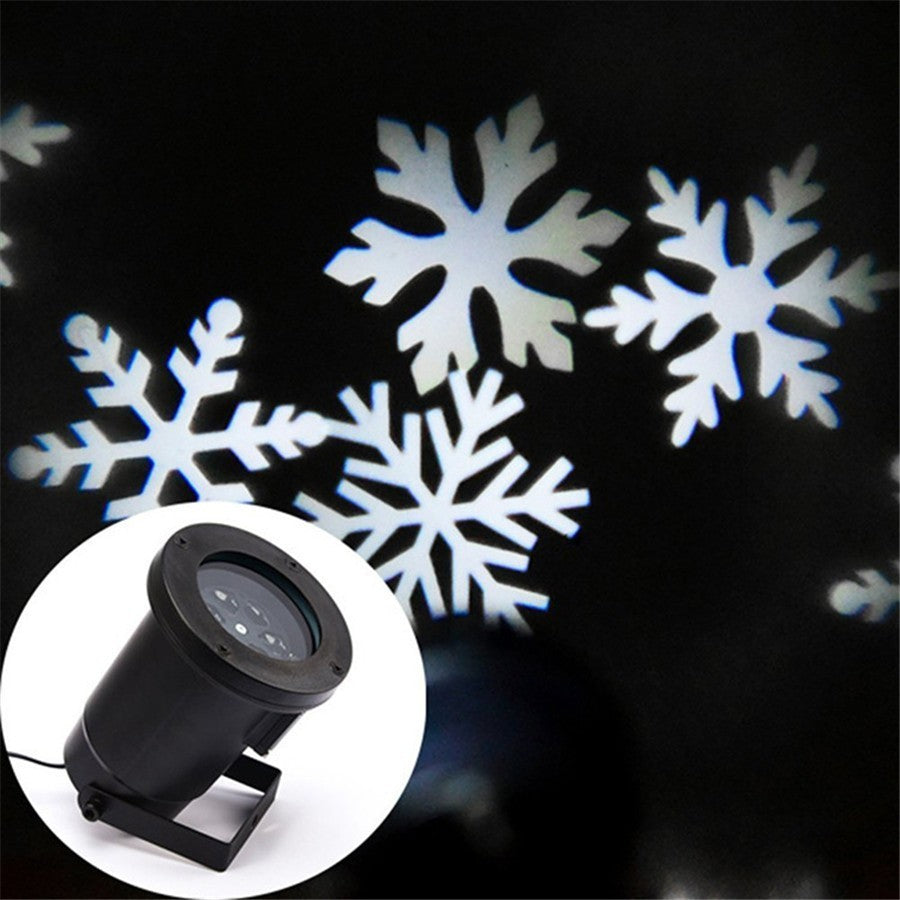 Christmas Light projector Waterproof Moving Snow Snowflake Laser Christmas Lights LED