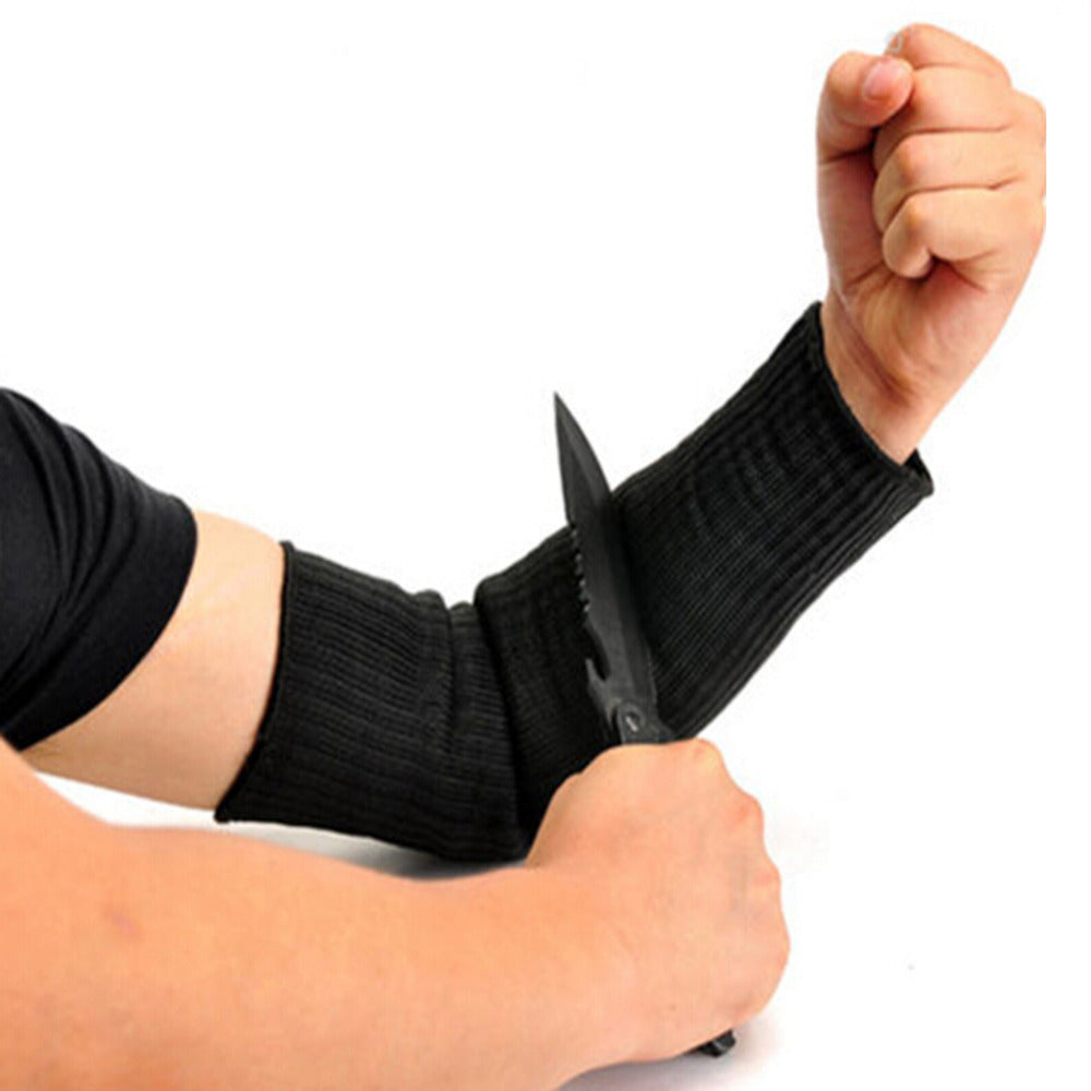 1 Pair Steel Wire Cut Proof Anti Abrasion Stab Resistant Armband Sleeve Guard Bracers Safty Arm Guard Bracers Protector