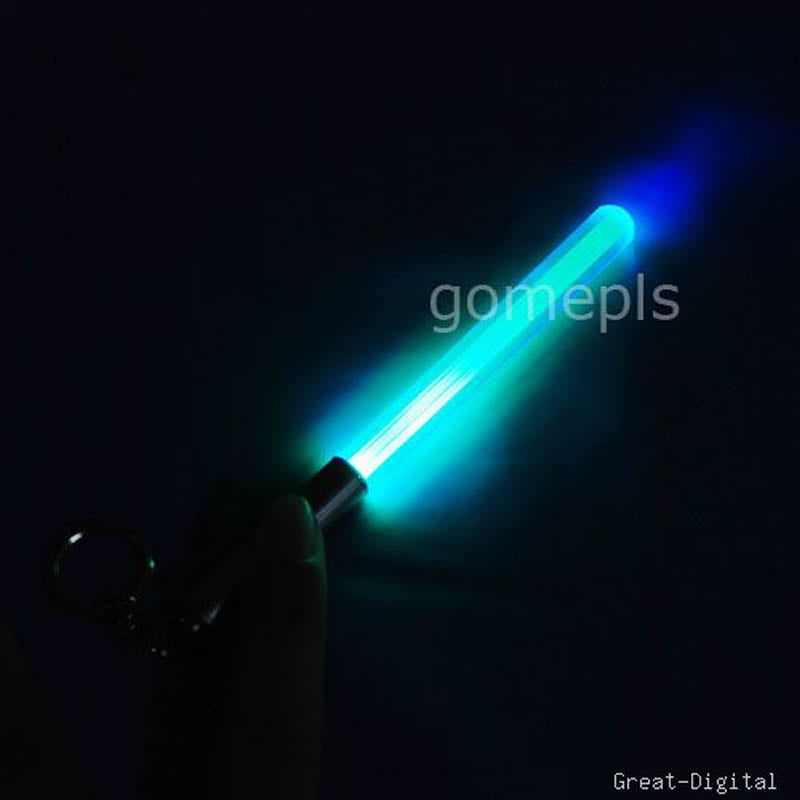 1 Pc Magic Wand Stick Lightsaber Keychain LED Light Durable Glow Pen Flash Torch