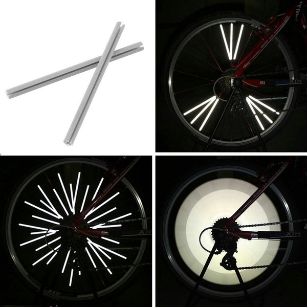 12pcs Reflective Mount Clip Tube Warning Strip Bicycle bike Wheel Spoke Reflector mountain rear bike reflector light New Arrival
