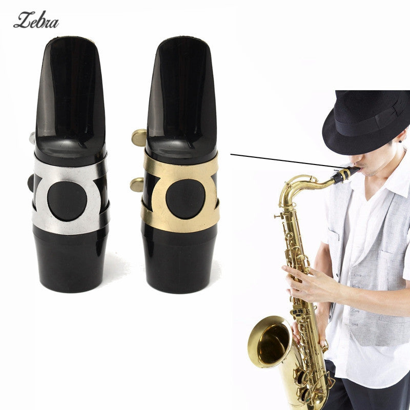 1pcs Alto Sax Saxophone Mouthpiece With Cap Buckle Reed Patches Pads Cushions Silver/Gold Alto Saxophone Mouthpiece