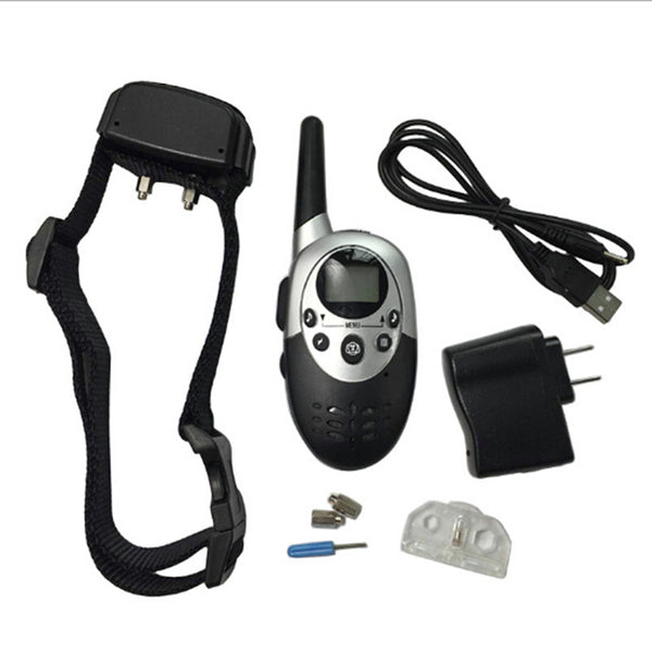 New Dog Trainer 1000 Yards Waterproof Rechargeable LCD Electronic Shock Remote Dog Training Collar Remote Pet Training Tool