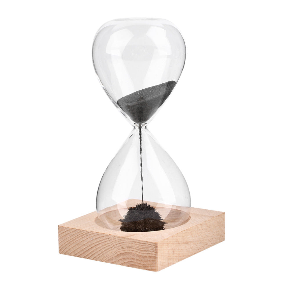 2017 New Hand-Blown Timer Clock Magnet Magnetic Crafts Sand Clock Hourglass Timer Christmas Household Decoration Best Gift