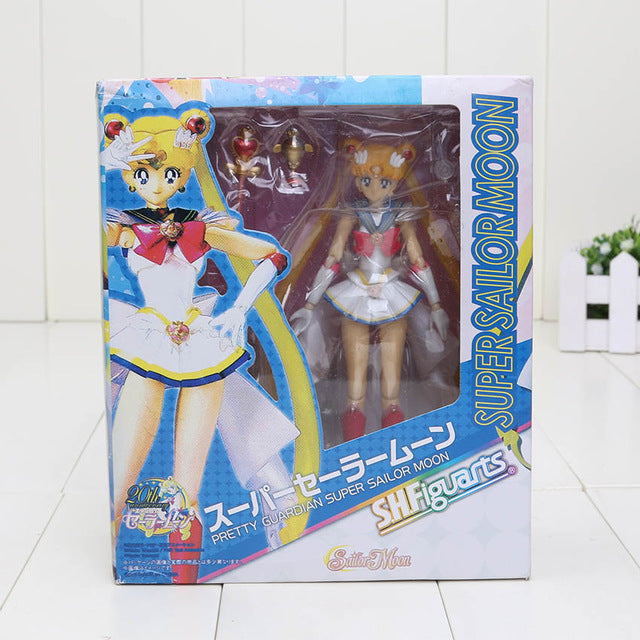 15cm Anime Sailor Moon Tsukino Usagi Hino Rei Mercury Ami PVC Action Figure