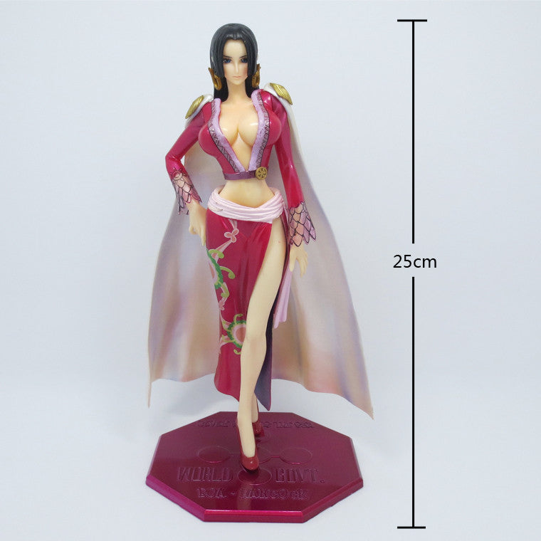 2 Head P.O.P DX Red Sexy Boa Hancock Action Figure One Piece Anime 25cm