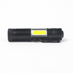 Q5 LED Flashlight XPE&COB Work Light lanterna Powerful Pen Torch Lamp 4 Modes Use 14500 or AA