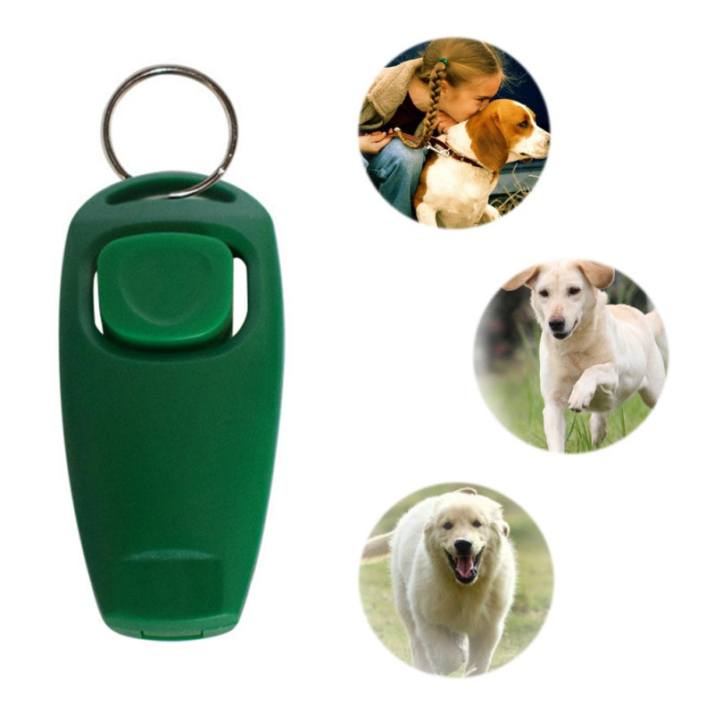 2 in 1 Dog Supplies Whistle Clicker Combo Pet Dogs Training Whistle Dog Whistles