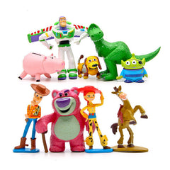 9PCS/SET Toy Story 3 Buzz Lightyear Woody Jessie PVC Action Figure Collectible Model Toy Kids Gifts