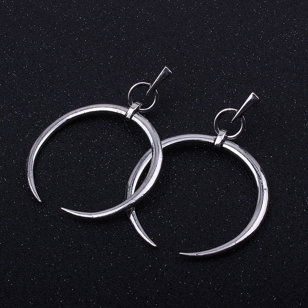 1 Pair New Fashion Lady Women Thin Round Big Large Dangle Hoop Loop Earrings