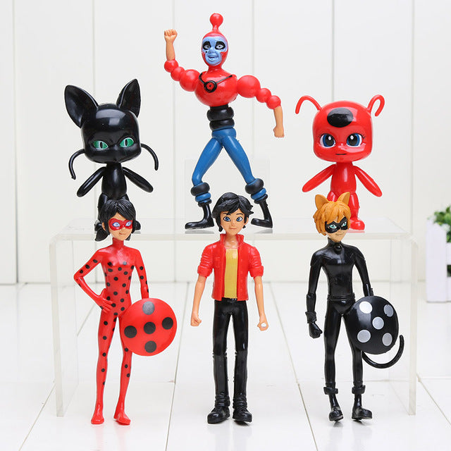 Miraculous Ladybug Comic Ladybug Girl Doll Action Figure Toys Cute Vinyl Anime Toys for Children Christmas Gifts