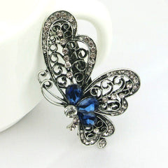 Fashion Blue Butterfly Hair Clip For Women Hair Accessories Trendy Jewelry