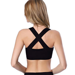 Sexy Women Bustier Bralette Corset Tops Cut Out Bra Crop Intersect Tank Top BK
