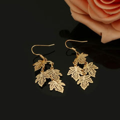 Chic Temperament Maple Sheet Metal Earrings