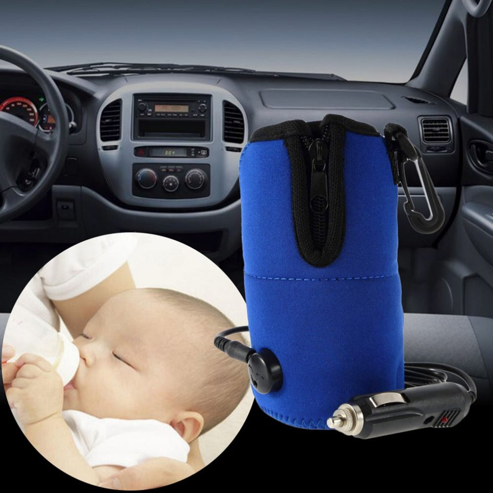 12V Portable DC Car Baby Bottle Warmer Heater Cover Portable Food Milk Travel Cup Covers New Arrival