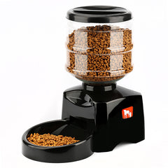 5.5L Automatic Pet Feeder with Voice Message Recording and LCD Screen Large Smart Dogs Cats Food Bowl Dispenser