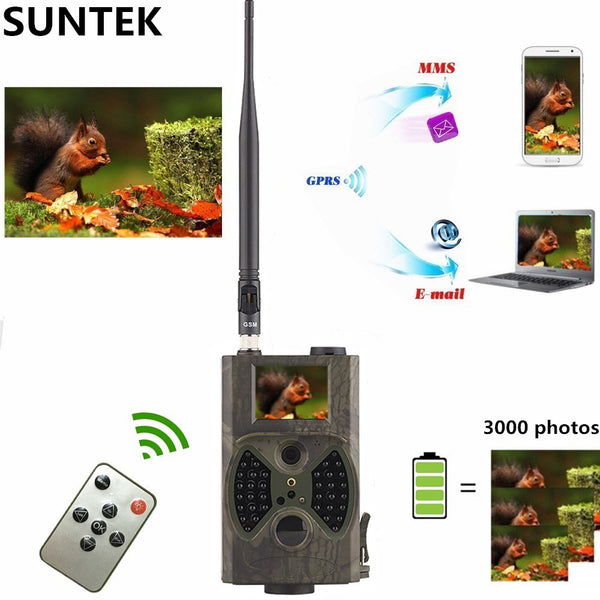 12MP Photo Traps Email MMS/GPRS/SMTP 1080P Night Vision Hunting Traps HC300M Hunting Camera Trail Camera Wildlife Camera Traps