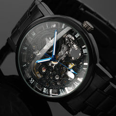Skeleton WristWatch Stainless steel Antique  Automatic  for Men