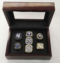 7pcs MLB 1977-2009 New York Yankees Champ rings With Box