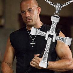 The Fast and Furious Crystal Cross Men Necklaces Vin Diesel