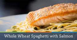 Whole Wheat Spaghetti with Lemon, Basil and Salmon